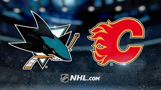 Flames clinch a playoff spot with 5-2 win vs. Sharks