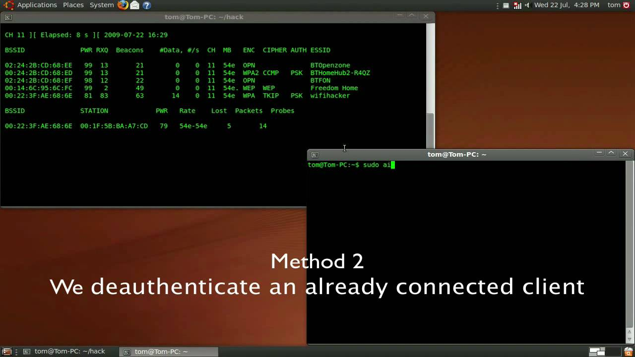 Cracking wifi wpa-psk Networks (Learn How to Protect your Privacy). Воспро