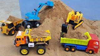 Excavator Crawler Crane Dump Truck Construction Toy Vehicles For Kids | Vic Vic