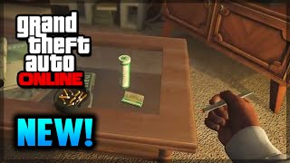 GTA 5 PS4 - NEW Smoking Weed First Person! (GTA 5 Online Gameplay)