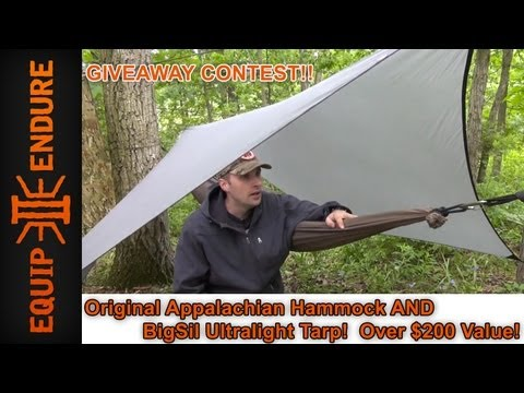 Appalachian Hammock and Sil Tarp Giveaway, by Equip 2 Endure