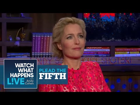 Gillian Anderson Talks Pay Inequality With David Duchovny - Plead the Fifth - WWHL