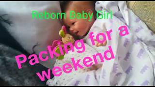 Packing A Reborn Baby Doll Weekend Bag | what I took