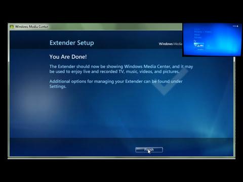 Use Xbox 360 as Windows Media Center Extender