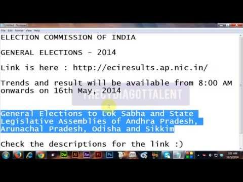 ( 16/05/14 ) GENERAL ELECTIONS - 2014 RESULTS (  ELECTION COMMISSION OF INDIA )