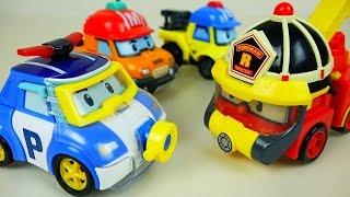 Robocar Poli water Poli Space Fireman Marine car toys