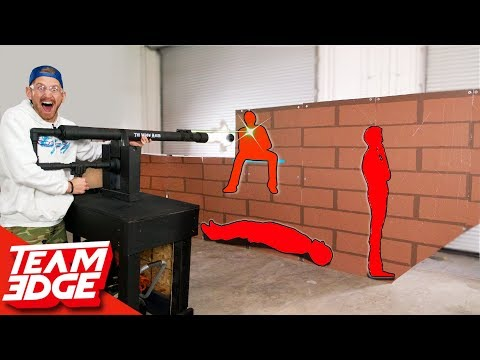 Shoot the Person Behind the Wall! | Cannon Edition!!