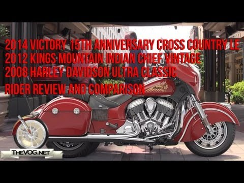 Indian Chieftain vs Victory Cross Country vs Harley Ultra Rider Review and Comparison