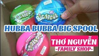 Khui bưu phẩm Hubba Bubba BigSpool mua tại Thơ Nguyễn Family Shop
