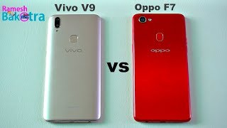 Oppo F7 vs Vivo V9 Speed Test and Camera Comparison