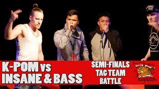 K POM vs INSANE & BASS - GNB 2017 - TAG TEAM SEMI-FINALS