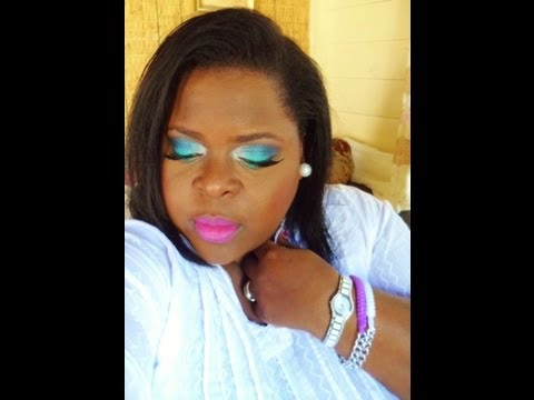 Makeup Tutorial.......blue had me at hello #caribbean sea inspired#