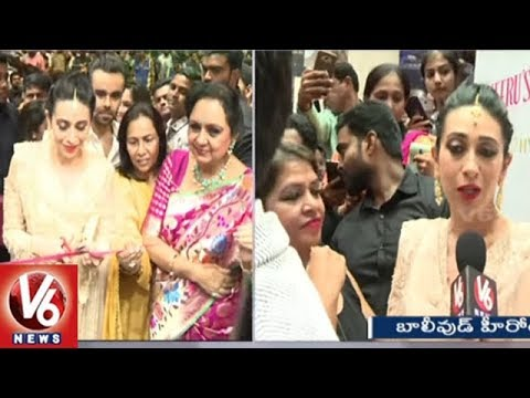Bollywood Karishma Kapoor Face To Face, Launches Neeru's 50th Store In Hyderabad | V6 News
