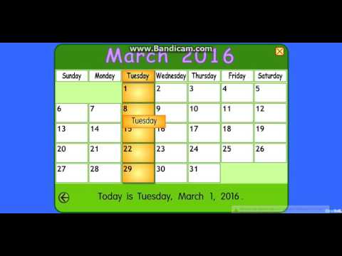 Starfall Calendar January 2009 :: VideoLike