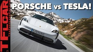 Is The New EV Porsche Taycan Turbo S Faster Than a Tesla In Ludicrous Mode?