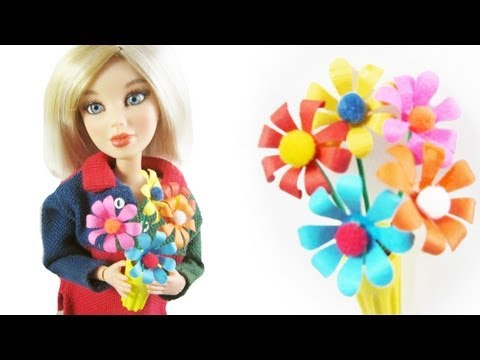 How to make a miniature flower arrangement for your doll
