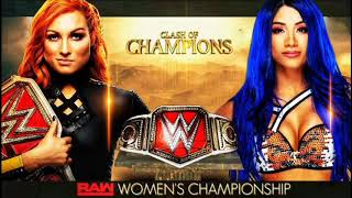 WWE Clash of champions 2019 Becky Lynch vs Sasha Banks official match card