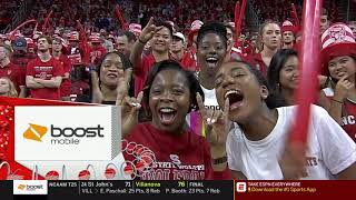 2019.01.08 #12 North Carolina Tar Heels at #15 NC State Wolfpack Basketball