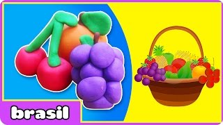 Frutas de Massinha | Fruit Play doh | Play doh Creations by HooplaKidz Brasil