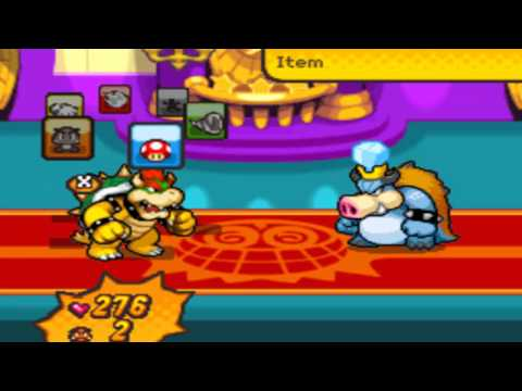 Bowser's Inside Story Boss 15 - Bowser vs Blizzard Midbus
