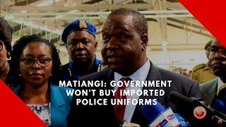Matiangi:  Government won't buy imported police uniforms