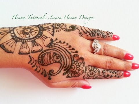 How To Make Henna Designs. step by step tutorial Learn Henna Online Lesson 2