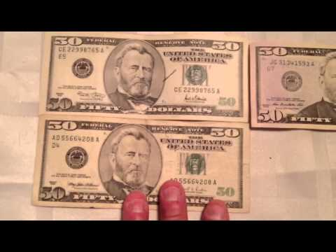 New 50 Dollar Bill Vs. New Old 50 Dollar Bill Money