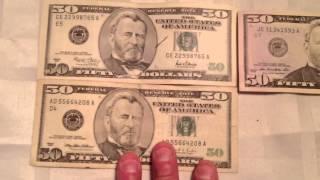 New 50 Dollar Bill Vs. New Old 50 Dollar Bill Money