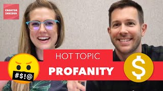 What THE &$!#%!!! 🤬Profanity in YOUR YouTube videos and how it affects the MONETIZATION icon 🤑