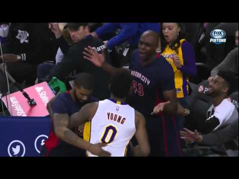 Nick Young tries to fight Anthony Tolliver