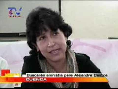 Buscarán amnistia para Alejandra Cantos