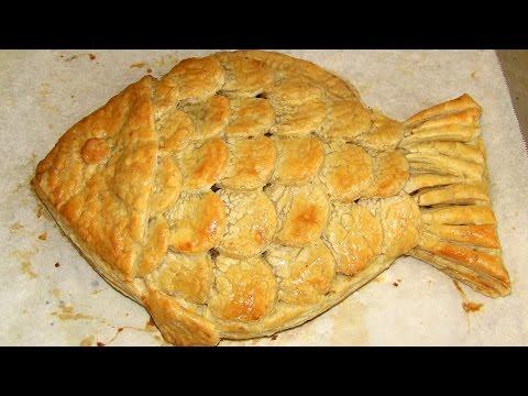 Рецепт слоеного для пирога с рыбой