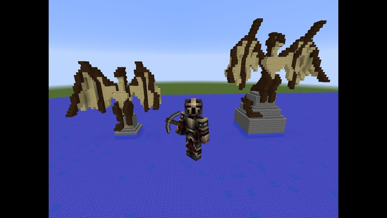 How To Build A Dragon Statue In Minecraft