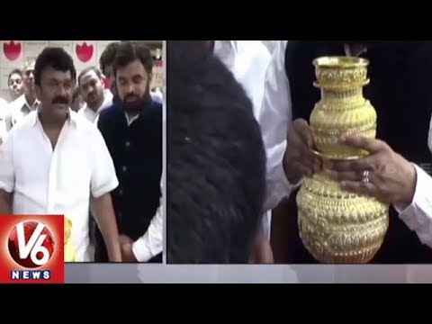 Minister Talasani Srinivas Yadav Inspects Ujjaini Mahankali Bangaru Bonam | Secunderabad | V6 News