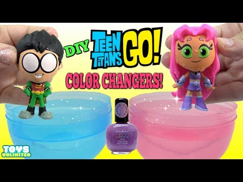 TEEN TITANS GO! Starfire vs Robin DIY Color Changing Nail Polish Challenge