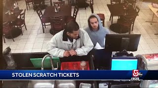 Police looking for scratch ticket thieves who cashed in tickets in Boston