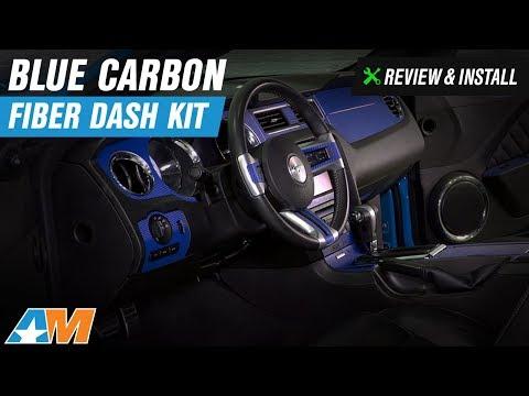 2010-2014 Mustang Blue Carbon Fiber Dash Kit Review & Install