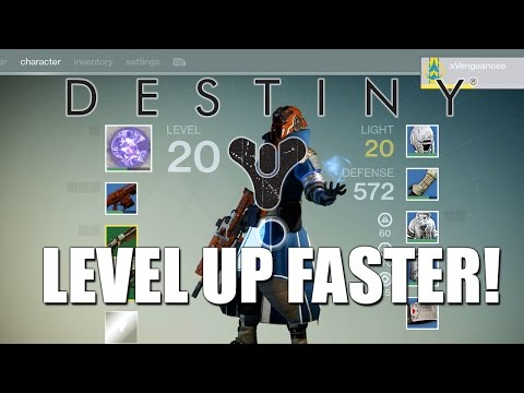 How to level up fast in DESTINY! (Destiny Leveling Up Fast 1080p HD Gameplay)