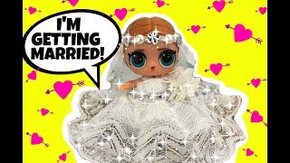 It's A Beautiful LOL Doll Beach Wedding!! LOL BRIDE GG CUSTOM Series 3 Special Guest ARIANA GRANDE