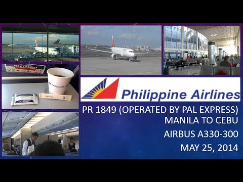 Owen's Travel ✈ PHILIPPINE AIRLINES PR 1849 : MANILA TO CEBU ON AIRBUS A330-300