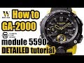 GA 2000 Carbon Core Guard G Shock Tutorial   How To Setup & Use ALL The Functions On The 5590 Module