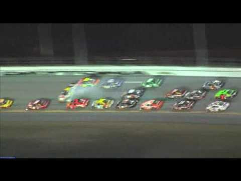 2010 Budweiser Shootout - Big Crash / Kevin Harvick Wins Video