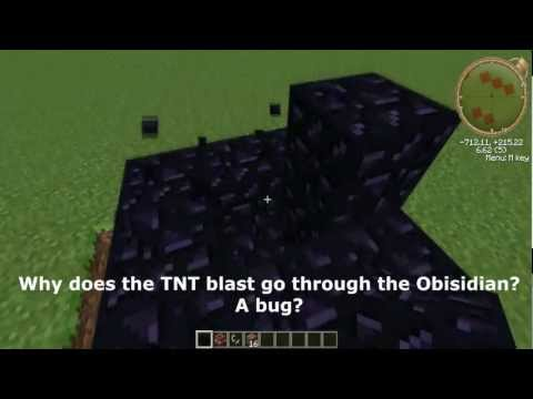 Minecraft TNT & Obisidian Bug - Is Obisidian Instructable to TNT?