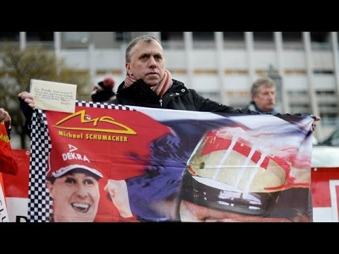 Michael Schumacher's fans hold silent vigil outside hospital for his birthday