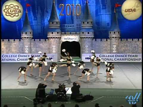 UDA College Nationals 2010: University of Iowa- Div 1A Pom 6th place Video