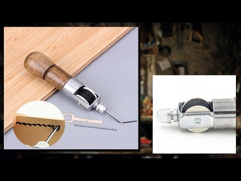 как сделать ручную швейную машинку для кожи своими руками // Hand sewing machine for leather