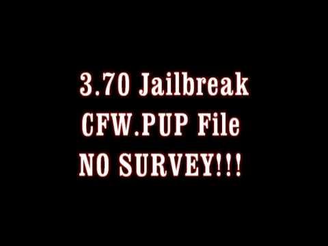 3.70 Jailbreak NO SURVEY!! CFW.PUP *Mediafire*