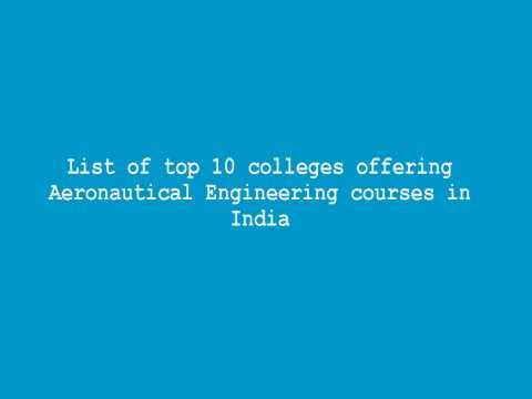 List of top 10 colleges offering Aeronautical Engineering courses in India
