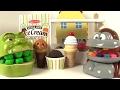 Dentiste Shrek mange des glaces avec le singe Docteur la peluche ambulance
