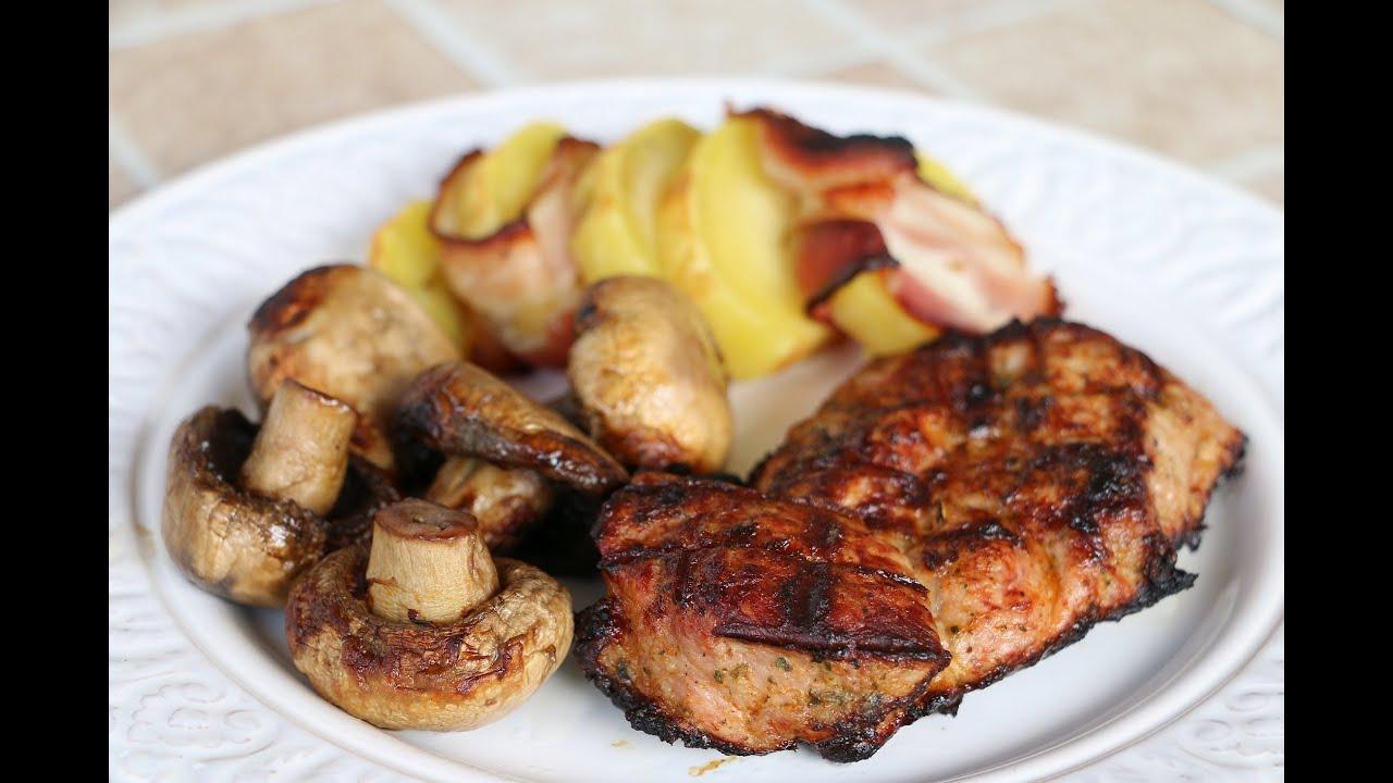 Картофель на шампурах на мангале с салом рецепт
